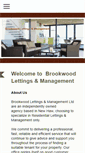 Mobile Preview of brookwoodlettings.co.uk