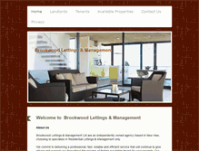 Tablet Preview of brookwoodlettings.co.uk